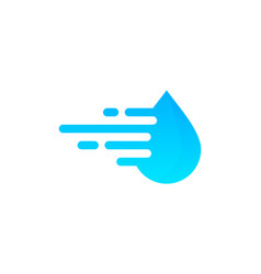 speed water logo icon design vector image