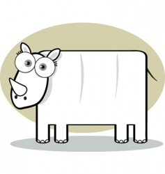 square animal rhino vector image