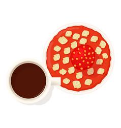 Strawberry pie icon isometric style vector