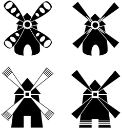 Strong windmill vector image