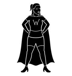 superwoman cartoon character silhouette vector image