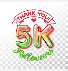 thank you 5k followers vector image