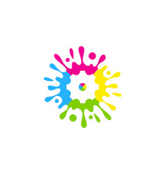 Tool paint logo icon design vector