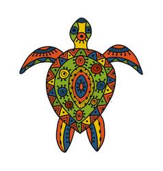 Tortoise ornate for your design vector