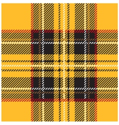Traditional Seamless Yellow Tartan Pattern vector image