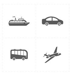 travel company icons vector image
