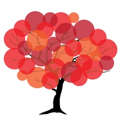 Tree color red vector