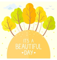 trees autumn flat vector image
