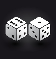 Two dices in the isometric third dimension vector
