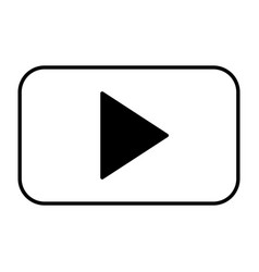 video player button on white background vector image