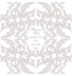 Vintage Baroque ornament card vector image