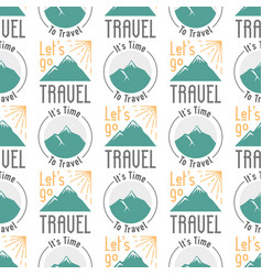 vintage typography travel motivation seamless vector image