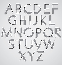 Weird constructor font alphabet letters vector