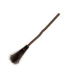 Witches broom stick old broom halloween vector