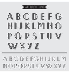 Art Deco Type Font Vintage Typography vector image
