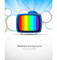 Background with tv vector image