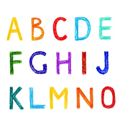 Funny set of english letterns hand drawn alphabet vector image vector image