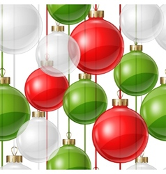 Holiday seamless pattern design with christmas vector image