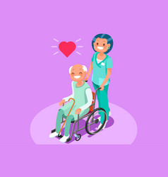 retirement community isometric people vector image vector image