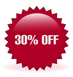 30 Off Sticker vector image vector image