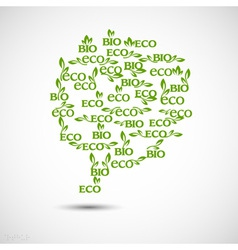 Big speech bubble made from Eco icons vector image