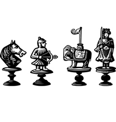 Old chessmen vector image vector image