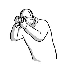 portrait of photographer shooting photo vector image