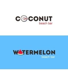 Set of logos for beach bar vector