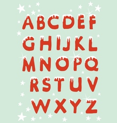Snowy Christmas Alphabet vector image vector image