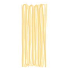 Spaghetti dry isolated raw pasta on white vector