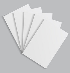stack of white sheets of paper with shadows vector image vector image