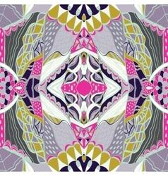 Traditional ornamental paisley bandanna Pink vector image