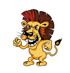 angry cartoon lion vector image vector image