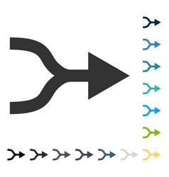 Combine arrow right icon vector