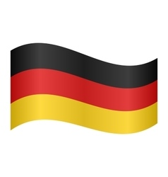 Flag of Germany waving vector image
