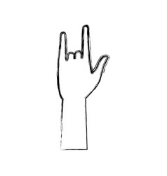hand rock and roll gesture concept vector image