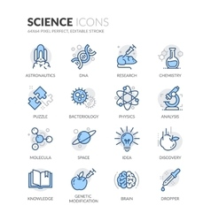 Line Science Icons vector image