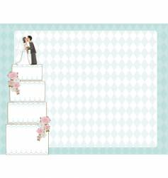 wedding cake invite vector image vector image