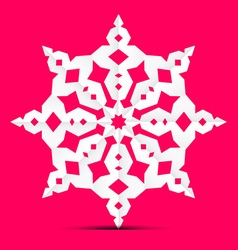 Origami Paper Cut Star - Ornament on Retro Pink vector image vector image