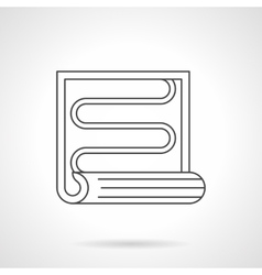 Radiant floor heating flat line icon vector image vector image