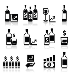 Alternative investments - investing money in wine vector image