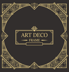 Art deco border and frame 32 vector