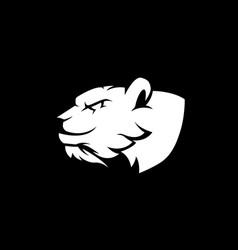 bear mascot logo vector image