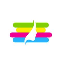 beauty paint logo icon design vector image