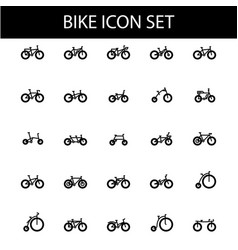 Bike icon set image vector