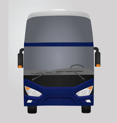 Blue luxury bus front side vector