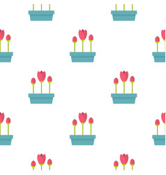 Box with flowers pattern flat vector