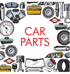 Car spare parts repair service vector