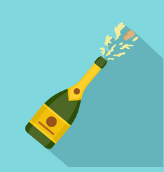 Champagne icon flat style vector