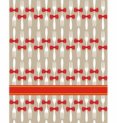 Christmas cutlery seamless pattern background vector
